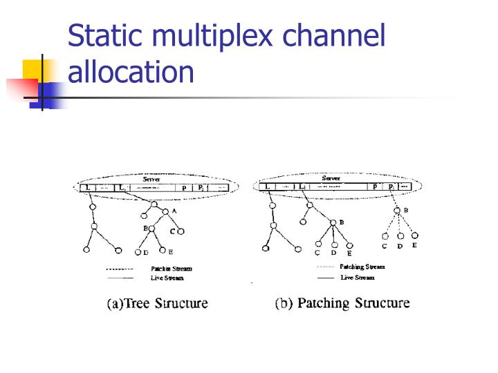 Static multiplex channel allocation