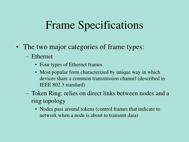 Frame Specifications