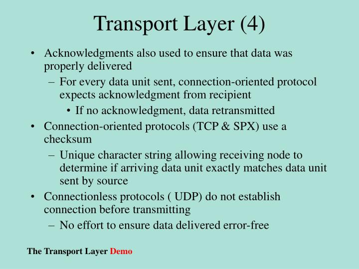 Transport Layer (4)