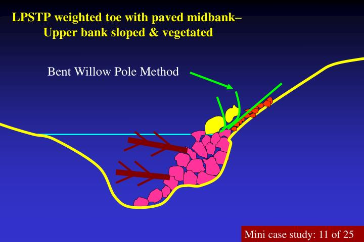 LPSTP weighted toe with paved midbank–