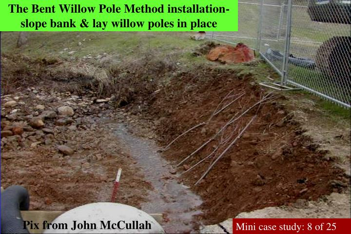 The Bent Willow Pole Method installation-slope bank & lay willow poles in place