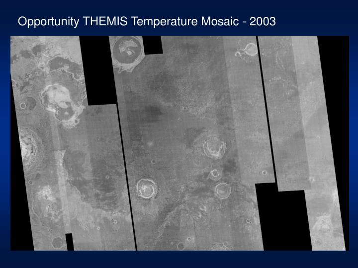 Opportunity THEMIS Temperature Mosaic - 2003