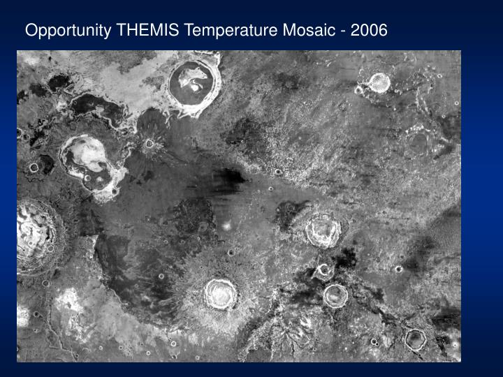 Opportunity THEMIS Temperature Mosaic - 2006