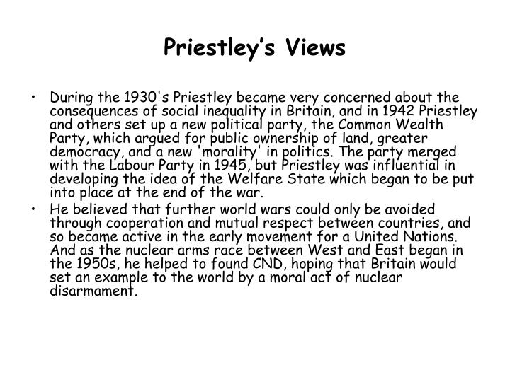 Priestley's Views