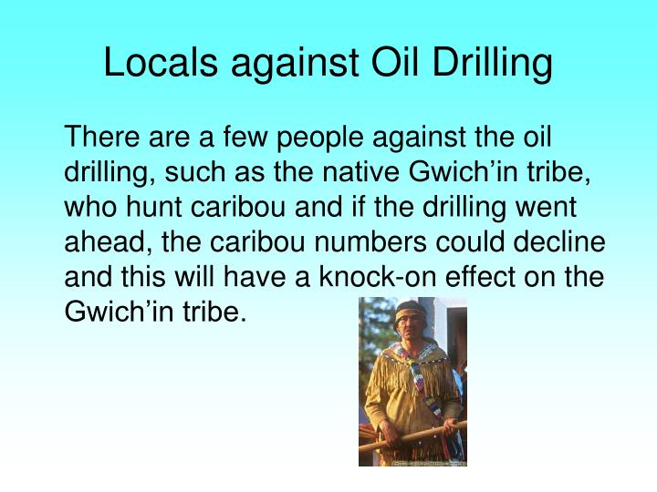Locals against Oil Drilling
