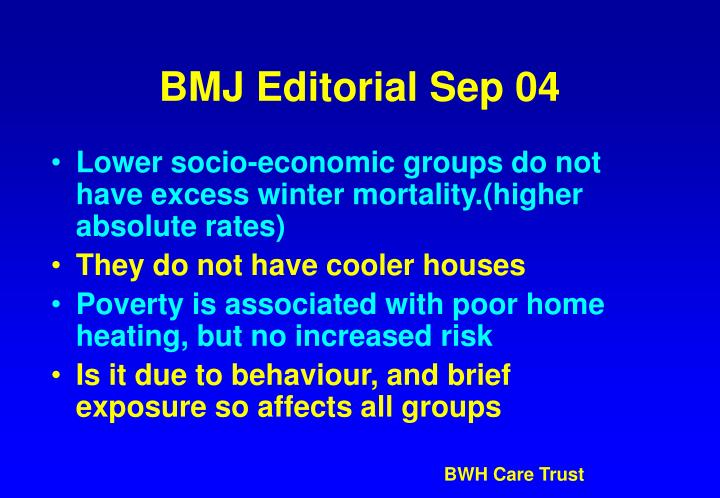 BMJ Editorial Sep 04