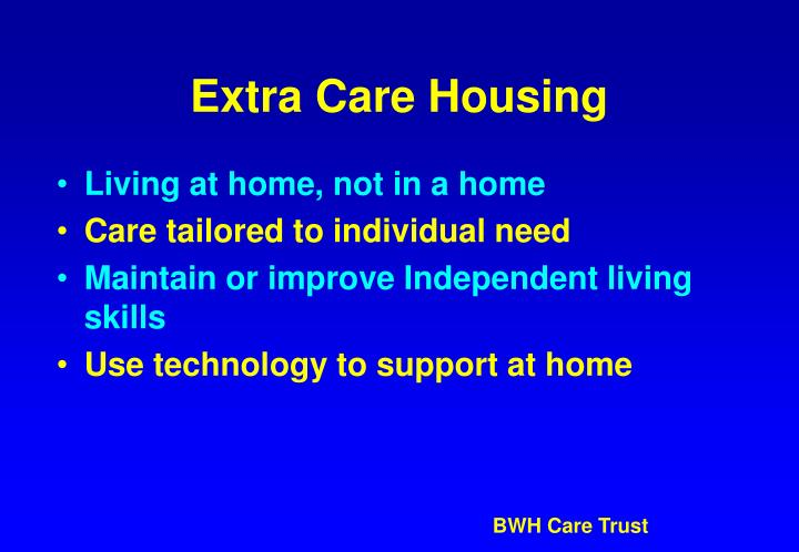 Extra Care Housing