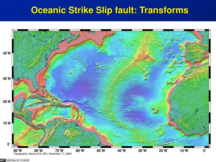 Oceanic Strike Slip fault: Transforms