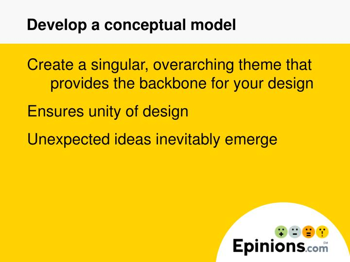 Develop a conceptual model