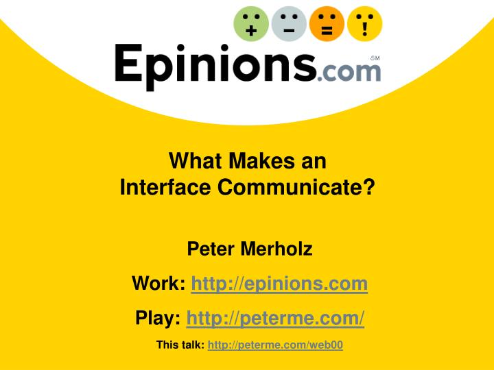 What makes an interface communicate