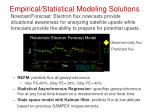 empirical statistical modeling solutions
