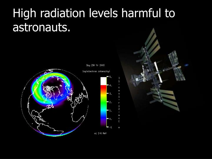 High radiation levels harmful to astronauts.