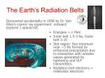 the earth s radiation belts