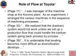role of flow at toyota