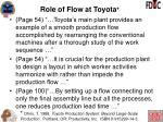 role of flow at toyota1