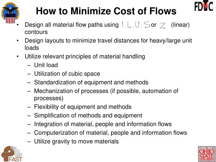 How to Minimize Cost of Flows