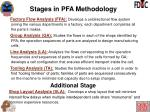 stages in pfa methodology