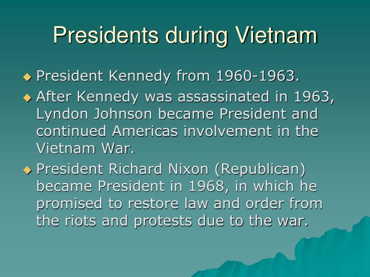 Presidents during Vietnam