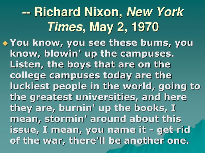 -- Richard Nixon,