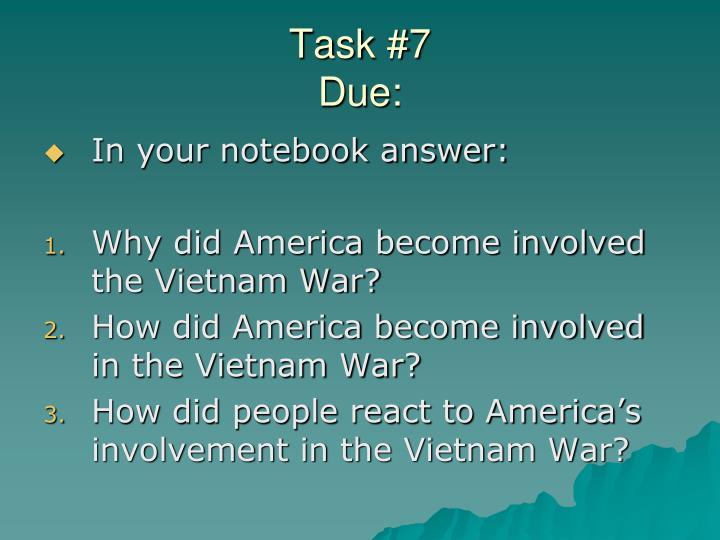 Task #7