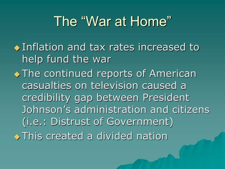 "The ""War at Home"""