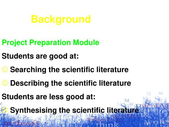 Project Preparation Module
