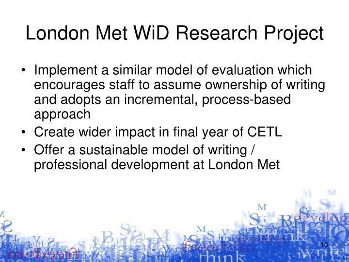 London Met WiD Research Project