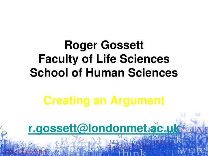 Roger Gossett
