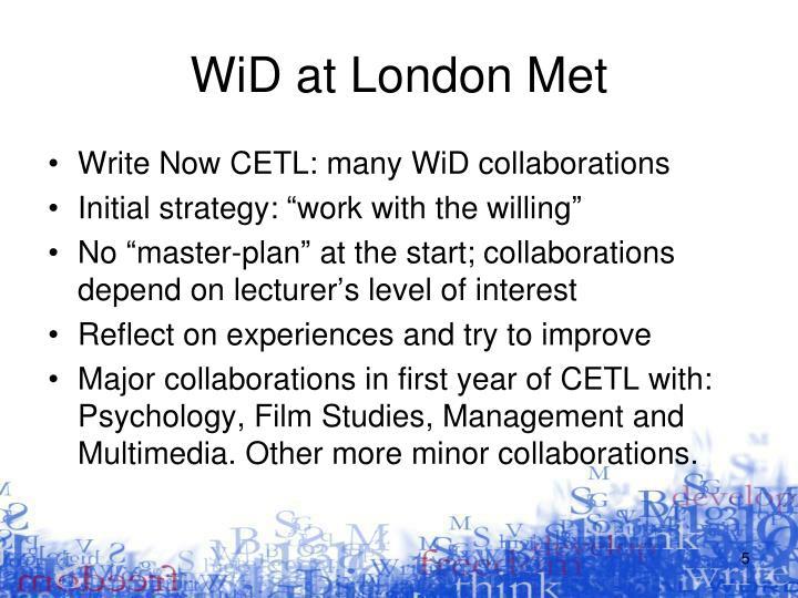 WiD at London Met