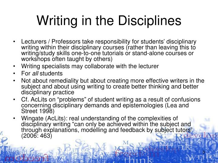 Writing in the disciplines1