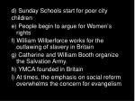 d sunday schools start for poor city children
