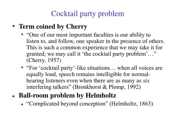 Cocktail party problem