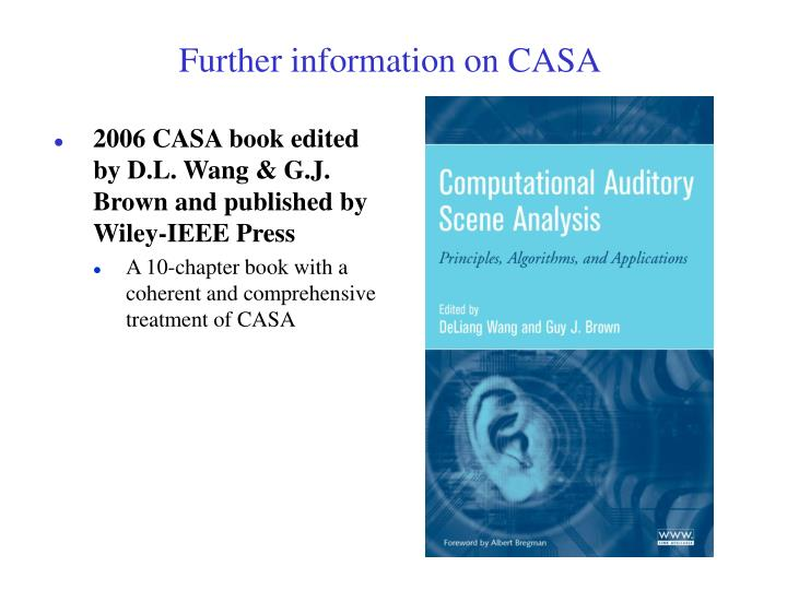 Further information on CASA