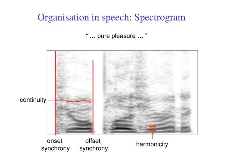 Organisation in speech: Spectrogram