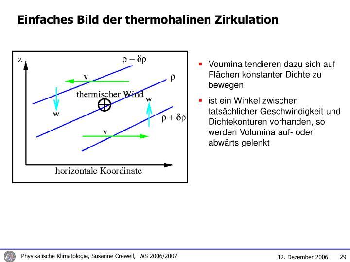 Einfaches Bild der thermohalinen Zirkulation