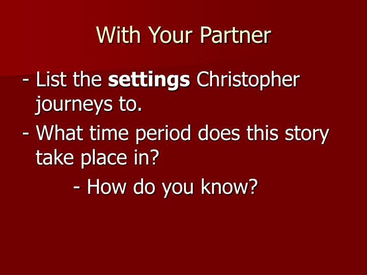 With Your Partner