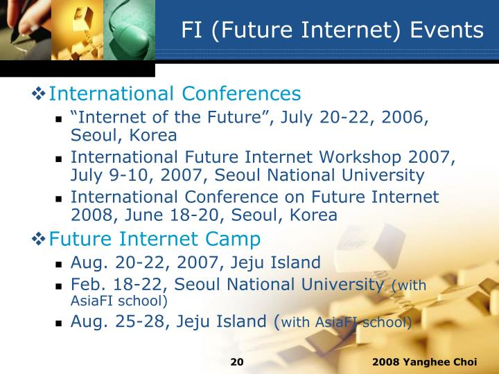 FI (Future Internet) Events