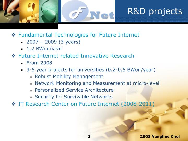 R&D projects