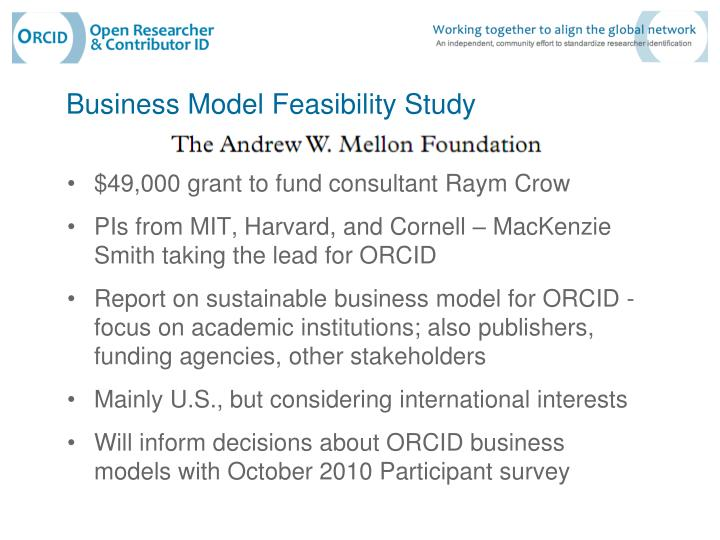 Business Model Feasibility Study