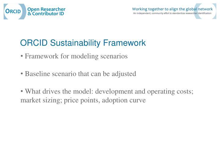 ORCID Sustainability Framework