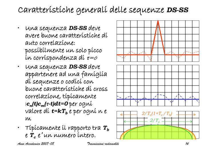 Caratteristiche generali delle sequenze