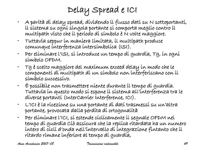Delay Spread e ICI