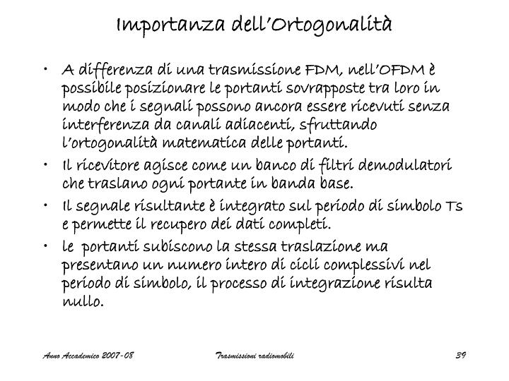 Importanza dell'Ortogonalità