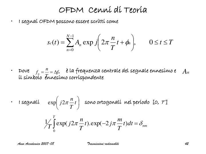 OFDM  Cenni di Teoria