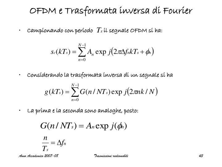OFDM e Trasformata inversa di Fourier