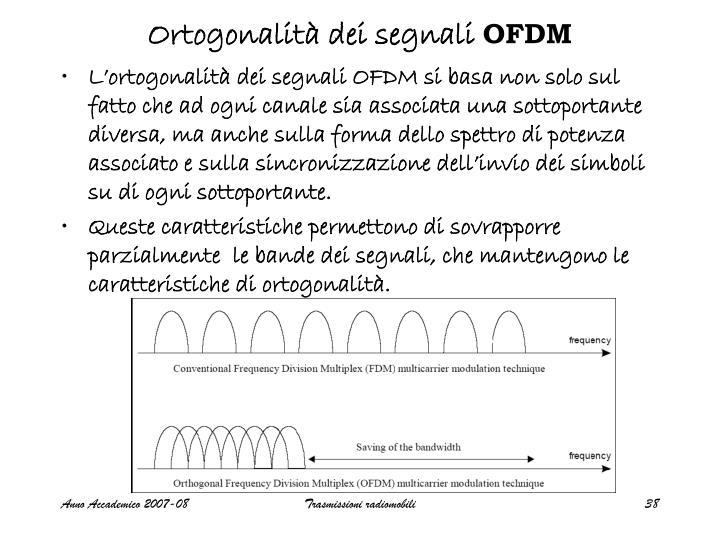 Ortogonalità dei segnali