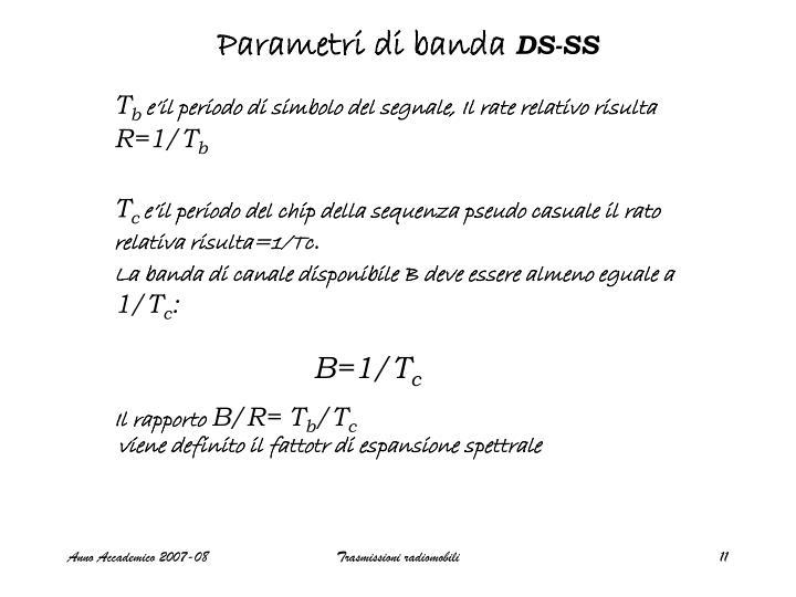 Parametri di banda