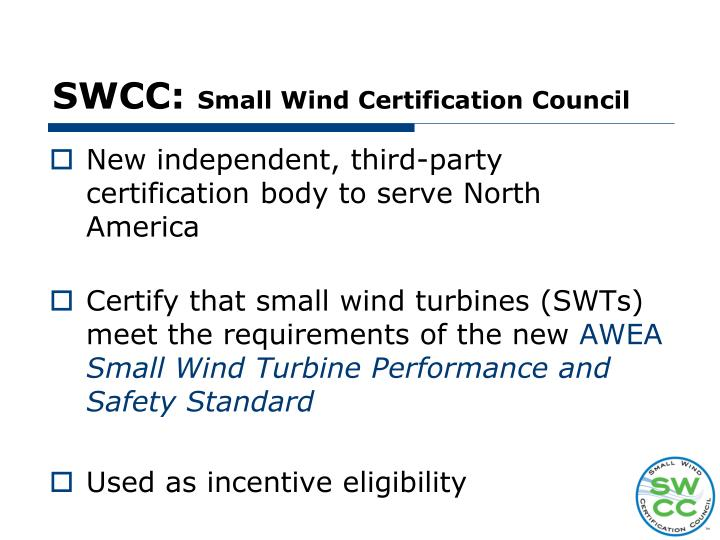 Swcc small wind certification council
