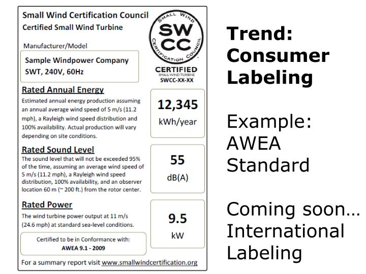 Trend: Consumer Labeling