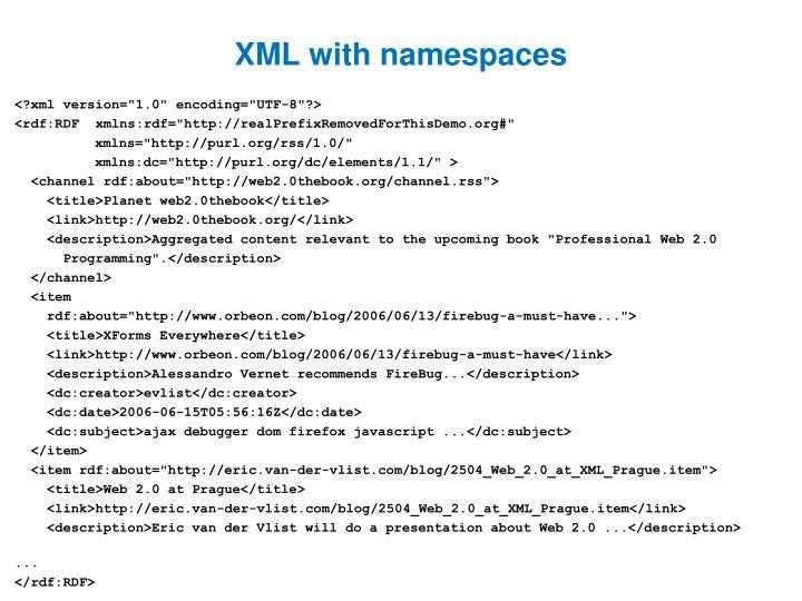 XML with namespaces